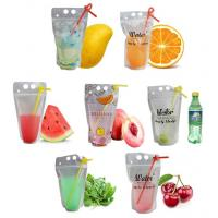Buy cheap biodegradable eco-friendly FDA clear juice sealed drink pouches translucent reclosable hand held zipper plastic drinking from wholesalers
