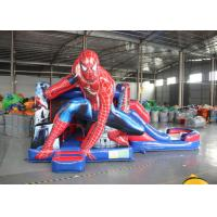 Buy cheap Spider Man Inflatable Bounce House With Slide / Kids Playground Marvel Comic Bouncy Jumping Castles from wholesalers
