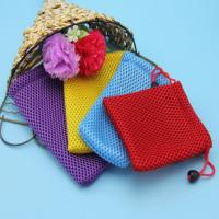 Buy cheap Ice Hockey Small Packing Bag , Colorful Sandwich Mesh Drawstring Bags from wholesalers