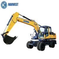 Buy cheap Bucket 0.58cbm XCMG Max Digging Height 8190mm XE150WB 4 Wheel Excavator from wholesalers
