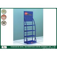 Buy cheap Blue Logistic OEM Oil Display Rack Metal Display Racks WIth Single Sides from wholesalers