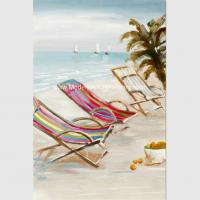 Buy cheap Bright Seascape Oil Paintings On Canvas Seaside Beach 60 Cm X 90 Cm from wholesalers
