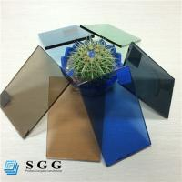 Buy cheap Good price 4mm 5mm 5.5mm 6mm color dark blue green grey bronze tinted float glass factory from wholesalers