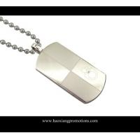 Buy cheap custom brushed finish blank metal rounded long rectangle dog tags from wholesalers