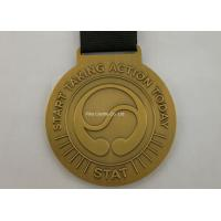 Buy cheap Zinc Alloy Brass Sports Ribbon Medals For Souvenirs / Honor / Prize from wholesalers