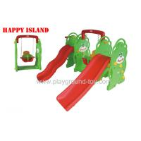 Buy cheap 3 In 1 Kids Outside Toys Multifunction Plastic Kids Slide And Swing Colorful Baby Slide Swing Set from wholesalers