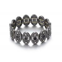 Buy cheap Antique Gunmetal Oval Costume Jewelry Charm Bangle Bracelets Ladies Fashion Jewellery from Wholesalers