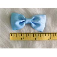 Buy cheap Blue Fabric Polyester Grosgrain hair clip bow for girls headwear accessories from wholesalers