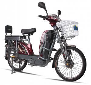 17'' Tube Tires Green Power E Bike Dark Red Battery Powered Bikes For Adults