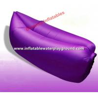 Buy cheap 1.4kg Weight Portable Sleeping Air Bag Lazy Couch Bed With Purple Nylon Fabric from wholesalers