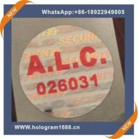 Buy cheap Laser hologram waterproof  anti-fake label  sticker, custom tamper proof hologram stickers from wholesalers