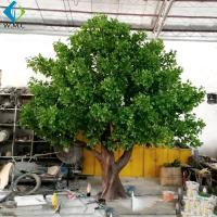 Buy cheap Big Size Artificial Tree Plant , Decorative Outdoor Trees With Fiberglass Trunk from wholesalers