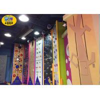 Buy cheap Commercial Indoor Kids Rock Climbing Wall High Strength Steel Frame And Plate from wholesalers