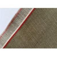 Buy cheap Khaki Unique Vintage Striped Denim Fabric By The Yard 11 Ounce W10450 - 38 from wholesalers