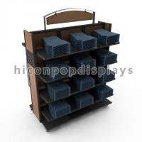 Buy cheap Movable Retail Clothing Racks With Casters For Jeans And Shirts product
