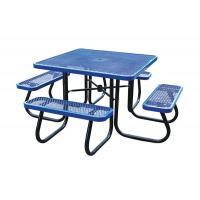 Buy cheap Stainless Steel Picnic Table Metal Outdoor Furniture , Heavy Duty Garden Bench Table from wholesalers