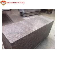 Buy cheap Custom Peach Flower Red Granite Tiles , G687 Granite Tiles For Bathroom Floor from wholesalers