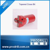 Buy cheap rock drill tool tapered cross bit 3 flushing length 70mm  for quarry granite from wholesalers