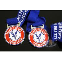 Buy cheap Eagle Logo Football Sports Metal Award Medal,Die casting Soft Enamel And Imitation Hard Enamel With Ribbon from wholesalers