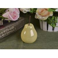Buy cheap Pearl Glazed Ceramic Pear Dining Kitchen Room Table Centerpiece Fruit Decoration from wholesalers