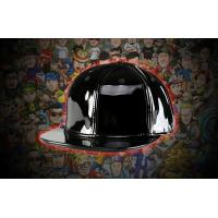 Buy cheap Vintage light Black blank leather SNAPBACK Plain leather HAT CAP FOR SALE from wholesalers
