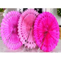 Buy cheap Party Decoration Customized Hot Sale Tissue Paper Fans Hanging Paper Fan for Wedding Decorations from wholesalers