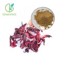 Buy cheap Brown Yellow Plant Extract Powder Dried Hibiscus Flower Extract HPLC Test from wholesalers