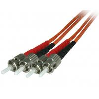 Buy cheap 2.0mm Orange Fibre Patch Cables ST Duplex OM2 Multimode PVC Jacketed from wholesalers