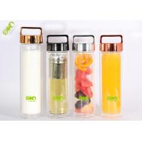 Buy cheap Commercial 350ml Double Wall Glass Bottle With Tea Infuser Travel Tumbler from wholesalers