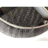Buy cheap Air Purification Wire Mesh Demister Pad Knitted / Plain Weave Round Hole from wholesalers