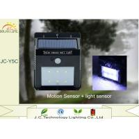 Buy cheap Motion Sensor 120LM 1W Solar Powered Garden Lamp Black 125*97*50mm from wholesalers