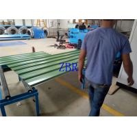 Buy cheap 13 Rows Roof Panel Roll Forming Machine With 5 Ton Hydraulic De - Coiler product