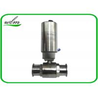 Buy cheap Elegant Design Sanitary Ball Valves Stainless Steel , Pneumatic Actuated Ball Valve from wholesalers