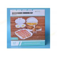 Buy cheap White Microwave Cookware Dishes 4 Set Cooker Egg Tools Bacon Tray Potato Frame from wholesalers