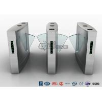 Buy cheap Flap Barrier Gate Fingerprint Reader Turnstile Barrier Gate Acrylic Flap Barrier from wholesalers