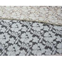 Buy cheap Grey Elastic Cord Lace Material / Floral Viscose Nylon Cotton Fabric CY-DK0011 from wholesalers