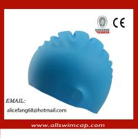 Buy cheap 2014 silicone swimming cap with customized company logo from wholesalers