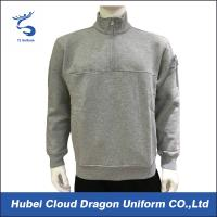 Buy cheap Mens Fleece Job Security Guard T Shirts Warm Heather Grey Cotton from wholesalers