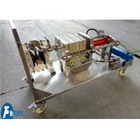 Buy cheap Jack Operation Lab Scale Filter Press Equipment For Solid Liquid Separation from wholesalers