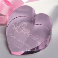 Buy cheap Crystal Love Heart Paperweight for Wedding/Souvenir Gift from wholesalers