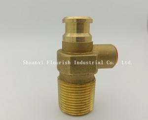 China 20MM Outlet LPG Gas Brass Self Closing Cylinder Valve on sale