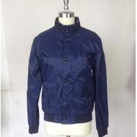 Buy cheap Outdoor Men's basketball Jacket Custom Sport Jackets with Blue Rib from wholesalers