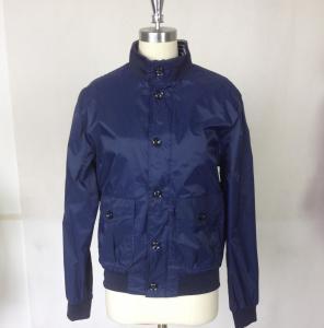 Buy cheap Outdoor  Men's basketball Jacket Custom Sport Jackets with Blue Rib product