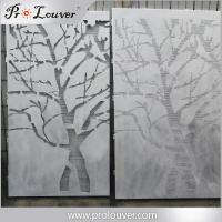 Buy cheap Tree image perforated aluminum panel,Custom manufactured perforatedl panel from wholesalers