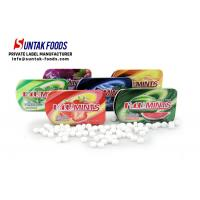 China 15g Sweet Confectionery Slide Tin Box Candy / Xylitol Mints For Fresh Breath on sale