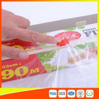 Transparent Food Wrap PE Cling Film With Slider Cutter 90m Length