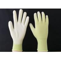 Buy cheap 13 Gauge Polyurethane Coated Gloves Green Nylon Seamless Reusable Design from wholesalers