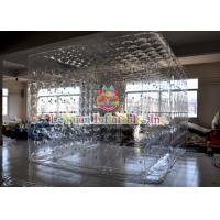 Buy cheap Transparent Inflatable Cube Tent  For Event , Outdoor Closed Air Inflatable Tent With LED Light product