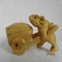 Buy cheap Boxwood carved mouse action from wholesalers