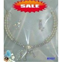 Buy cheap Silver Color Custom Fashion Jewelry Beaded Pearl Necklace for Anniversary from wholesalers